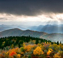 Autumn Radiance - Blue Ridge Parkway Landscape by Dave Allen