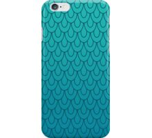 Mermaid Scales Turquoise to Teal Ombre iPhone Case/Skin