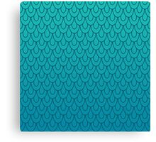 Mermaid Scales Turquoise to Teal Ombre Canvas Print