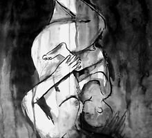 mother and child in shifting space by Loui  Jover