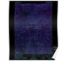 USGS Topo Map Oregon Silver Peak 281511 1989 24000 Inverted Poster