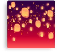 Floating Lanterns Canvas Print