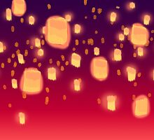 Floating Lanterns by 2cheekydisnerds