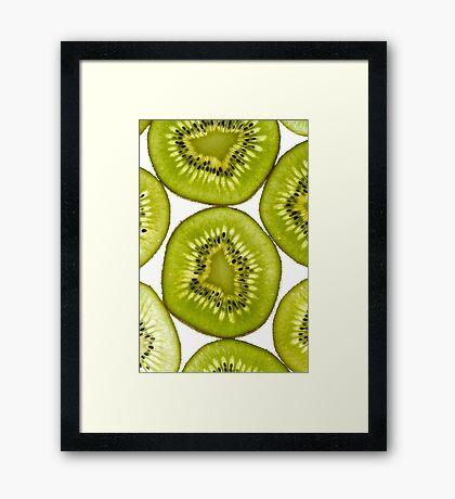 Kiwi Fruit Framed Print