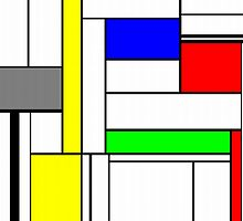 Faux Mondrian September by Jim Plaxco