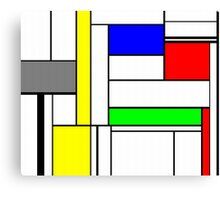 Faux Mondrian September Canvas Print