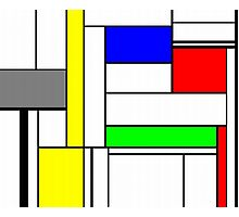 Faux Mondrian September Photographic Print