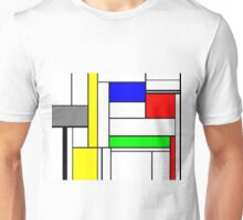 Faux Mondrian September Unisex T-Shirt