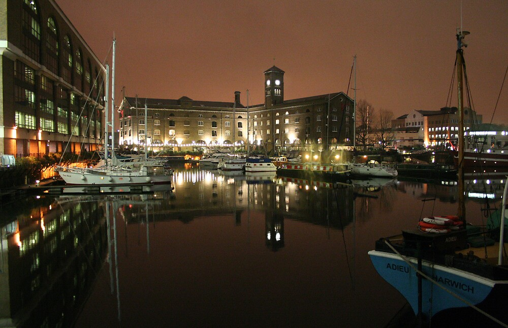 St Katharine Docks, London by Peter Tachauer