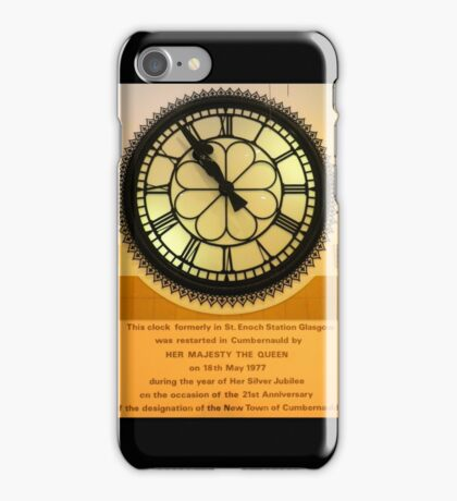 The Clock in the Plaza iPhone Case/Skin