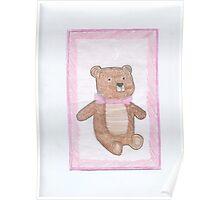 Baby Girl Teddy Bear Poster
