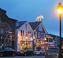 Main Street, Bar Harbor Summer Night, ME by Dan Hatch
