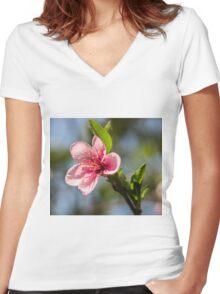 9315 apple Women's Fitted V-Neck T-Shirt