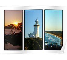 Byron Bay Triptych Poster