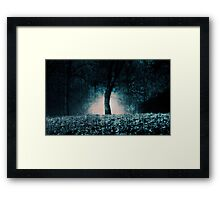In the fog which surrounded the trees... Framed Print