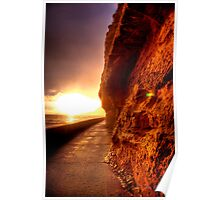 Cliff of Sand Poster