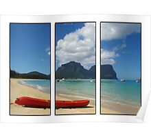 Lord Howe Island triptych Poster