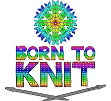 Born To Knit Rainbow Photographic Print