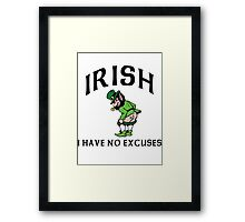 Funny Irish Framed Print
