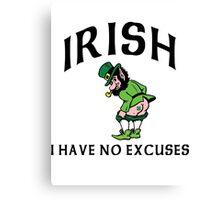 Funny Irish Canvas Print