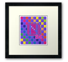 Vaporwave-The Neon of 1986 Pixel Logo: N86 Framed Print