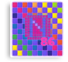 Vaporwave-The Neon of 1986 Pixel Logo: N86 Canvas Print