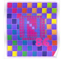 Vaporwave-The Neon of 1986 Pixel Logo: N86 Poster