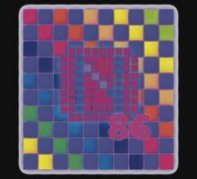 Vaporwave-The Neon of 1986 Pixel Logo: N86 One Piece - Long Sleeve
