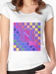 Vaporwave-The Neon of 1986 Pixel Logo: N86 Women's Fitted Scoop T-Shirt