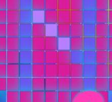 Vaporwave-The Neon of 1986 Pixel Logo: N86 Sticker