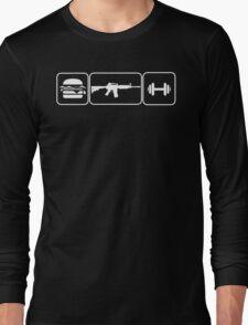 Eat Pew Lift Long Sleeve T-Shirt