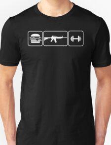 Eat Pew Lift Unisex T-Shirt
