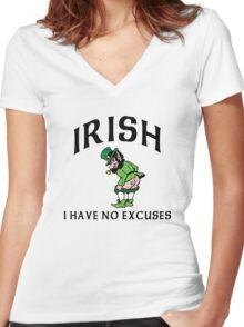 Funny Irish Women's Fitted V-Neck T-Shirt