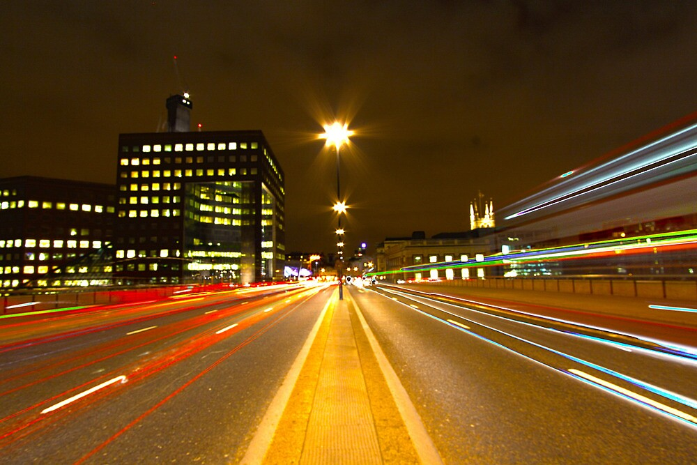 London Bridge Light Trails by Peter Tachauer