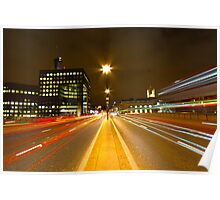 London Bridge Light Trails Poster