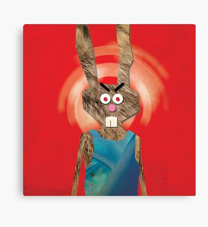 Behold ... Mad Lady Rabbit Canvas Print