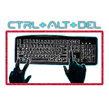 Ctrl-Alt-Del Retro Photographic Print