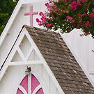 """Heavenly Pink"" - church in Solomons, Maryland by ArtThatSmiles"