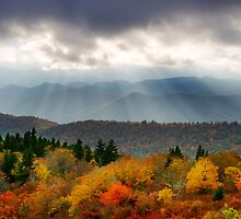 October Haze - Blue Ridge Parkway Photography in Autumn by Dave Allen