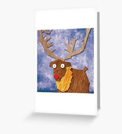 A Slightly Anxious Reindeer! Greeting Card