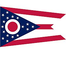 Ohio Columbus USA State Flag Bedspread T-Shirt Sticker Photographic Print
