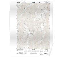 USGS Topo Map Oregon Puderbaugh Ridge 20110809 TM Poster