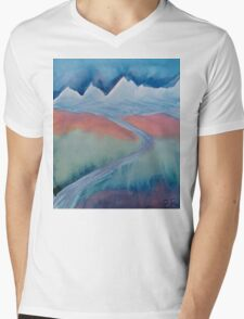 The Himalaya and The River Ganges Mens V-Neck T-Shirt