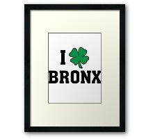 I Love (Shamrock) Bronx Framed Print