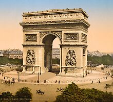 Vintage Paris Photo - Arc de Triomphe - c1895 by VintageParis