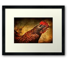 What the cluck? Framed Print