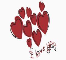Love Hearts  Kids Tee