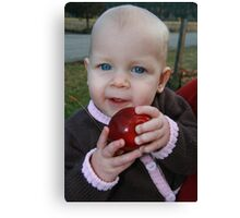 apple baby Canvas Print