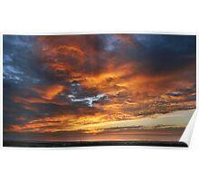 Sunset at Largs Bay South Australia Poster