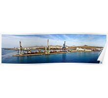 Arrecife port in Lanzarote Poster